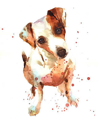Jack Russell Painting Poster