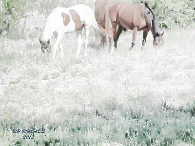Poster featuring the digital art Jack Smokey And Camelot Texas Spring C by Robert Rhoads
