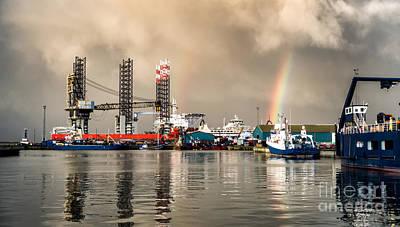 Jack Up Rig In Esbjerg Oil Harbor Denmark Poster