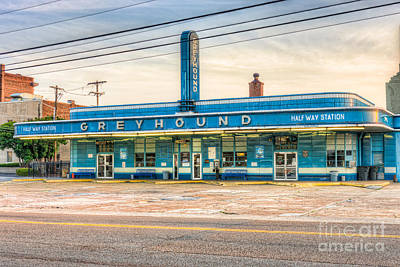 Jackson Greyhound Bus Station Vii Poster by Clarence Holmes