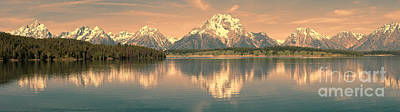 Jackson Lake Sunrise - Grand Teton Poster by Sandra Bronstein