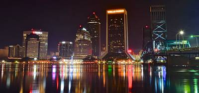 Jacksonville Aglow Poster by Frozen in Time Fine Art Photography
