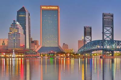 Jacksonville Alight At Daybreak Poster
