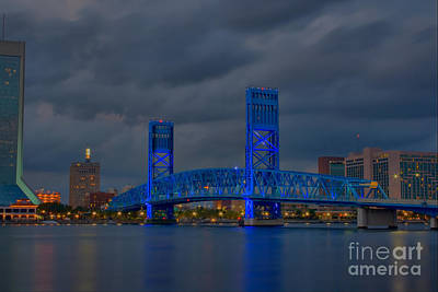 Jacksonville Blue Bridge Hdr Poster