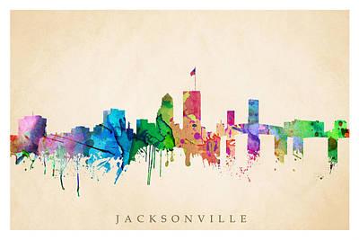Jacksonville Cityscape Poster