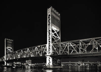 Jacksonville Florida Main Street Bridge Poster by Christine Till