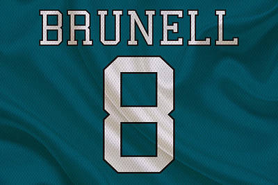 Jacksonville Jaguars Mark Brunell Poster by Joe Hamilton