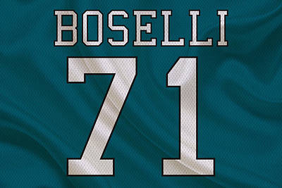 Jacksonville Jaguars Tony Boselli Poster by Joe Hamilton
