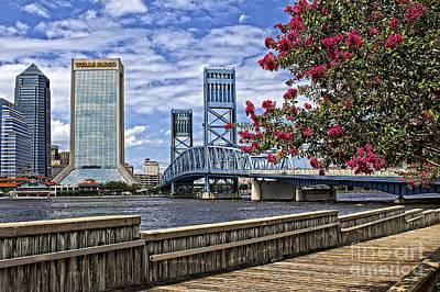 Jacksonville Riverwalk Poster by Richard Burr