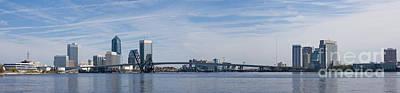 Jacksonville Skyline Panoramic Poster
