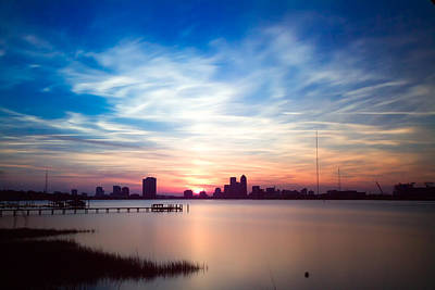 Jacksonville Sunset In May 2014 Poster by Jeff Turpin