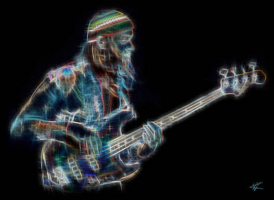 Jaco Poster by Kenneth Armand Johnson