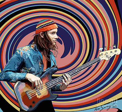 Jaco Pastorius Poster by Kevin Sweeney
