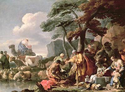 Jacob Burying The Strange Gods Under The Oak By Shechem Oil On Canvas Poster