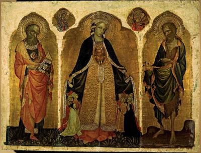 Jacobello Del Fiore, Triptych Poster by Everett
