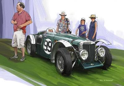 Jacobsen Mg N Magnette Special Poster by RG McMahon
