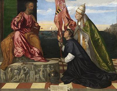 Jacopo Pesaro Being Presented To Saint Peter Poster