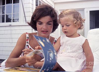 Jacqueline And Caroline Kennedy At Hyannis Port 1959 Poster