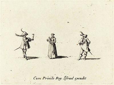 Jacques Callot French, 1592 - 1635, Lady With Wine Bottle Poster by Quint Lox