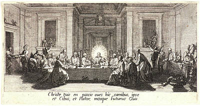 Jacques Callot French, 1592 - 1635. Last Supper La Céne Poster by Litz Collection