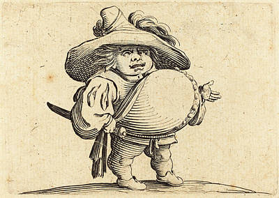 Jacques Callot French, 1592 - 1635, Man With Big Belly Poster by Quint Lox