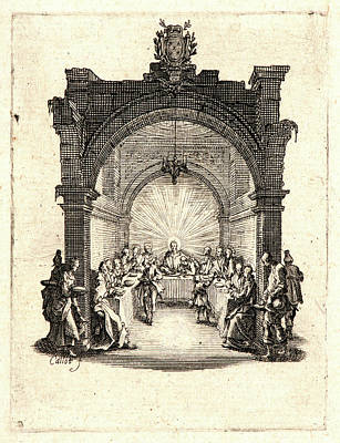 Jacques Callot French, 1592 - 1635. The Last Supper La Cène Poster by Litz Collection