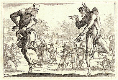 Jacques Callot French, 1592 - 1635. The Two Pantaloons Les Poster