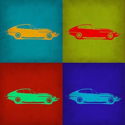 Jaguar E Type Pop Art 1 Poster by Naxart Studio
