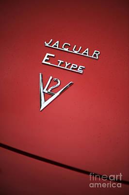 Jaguar E Type V12 Abstract Poster