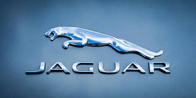 Jaguar F Type Emblem Poster by Jill Reger