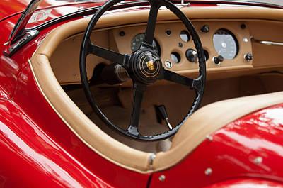 Jaguar Steering Wheel Poster by Jill Reger