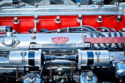 Jaguar Type C Engine Poster