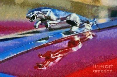 Jaguar V12 Badge Poster by George Atsametakis