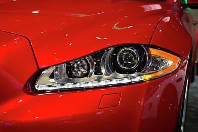 Jaguar Xjr Headlights Poster by Jim West