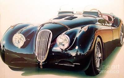 Jaguar Xk 120 Poster by Marco Ippaso