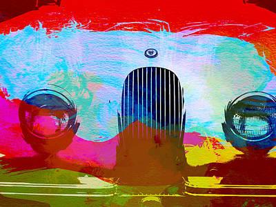 Jaguar Xk Front Poster by Naxart Studio