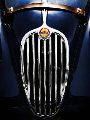 Jaguar Xk140 Grille Poster by Mark Rogan