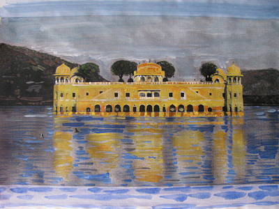 Poster featuring the painting Jai Mahal by Vikram Singh