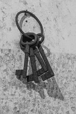Poster featuring the photograph Jail House Keys by Patricia Schaefer