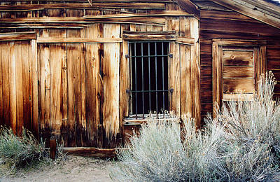 Poster featuring the photograph Jailhouse In Bodie State Park California by Mary Bedy