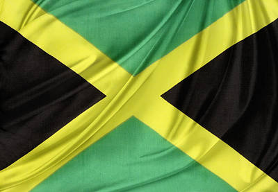 Jamaican Flag Poster by Les Cunliffe