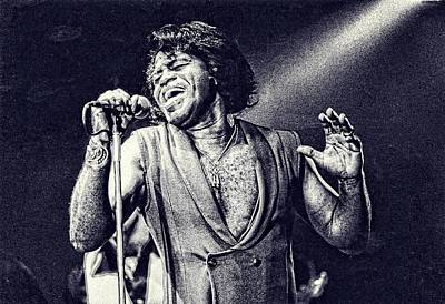 James Brown On Stage Poster