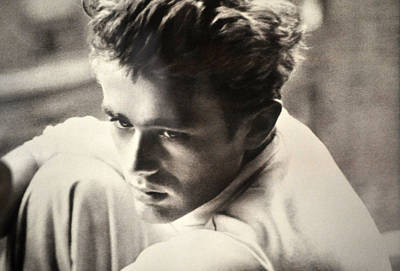 James Dean Black And White Poster by Jay Milo