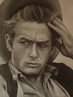 James Dean Poster by David Dunne