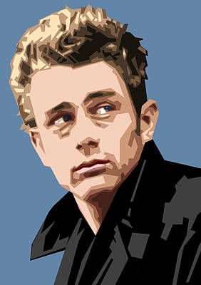 James Dean In Color Poster by Douglas Simonson