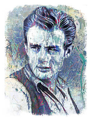 James Dean Poster by Mal Bray