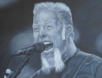 Poster featuring the painting James Hetfield I by David Dunne
