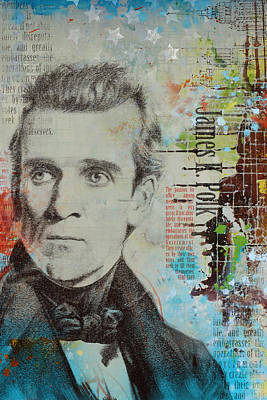 James K. Polk Poster by Corporate Art Task Force