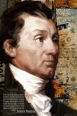 James Monroe Poster by Corporate Art Task Force