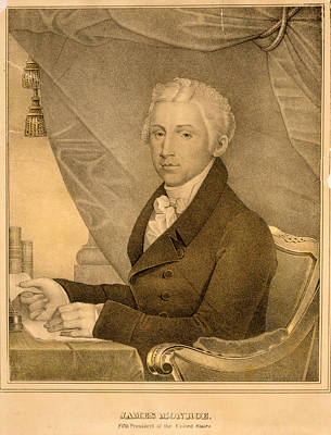 James Monroe, Fifth President Of The United States D Poster by Litz Collection
